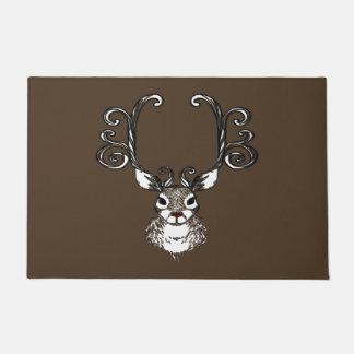 Cute Reindeer brown deer cottage welcome mat
