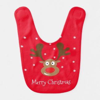Cute Reindeer Christmas Baby Bib