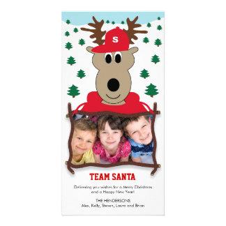 Cute Reindeer Christmas Photo Card Photo Cards