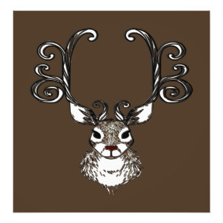 Cute Reindeer deer brown Canvas Print