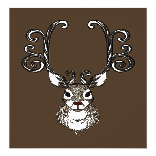 Cute Reindeer deer brown Canvas Print
