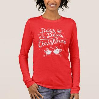 Cute Reindeer Deer Christmas Typography Pun Tee