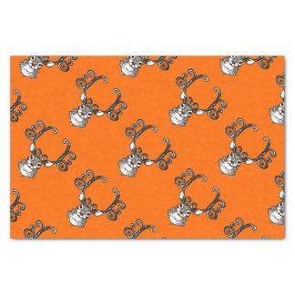 Cute Reindeer deer cottage  tissue paper orange