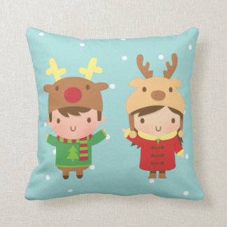 Cute Reindeer Kids Christmas Decorations Cushion