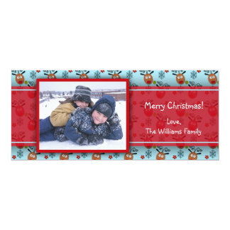 Cute Reindeer Photo Card 10 Cm X 24 Cm Invitation Card