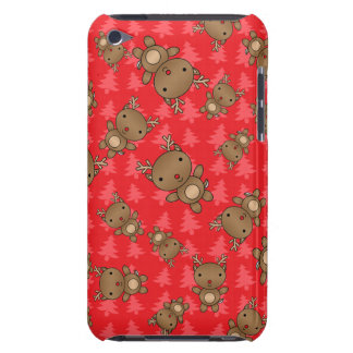 Cute reindeer red christmas trees iPod touch Case-Mate case