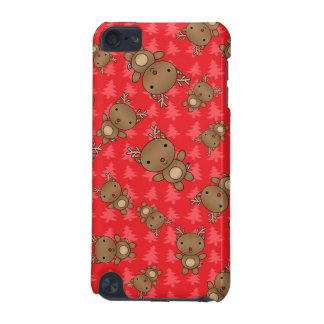 Cute reindeer red christmas trees iPod touch (5th generation) case