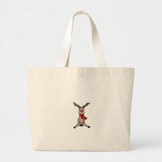 CUTE REINDEER, Rudolph Large Tote Bag