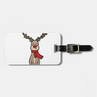 CUTE REINDEER, Rudolph Luggage Tag