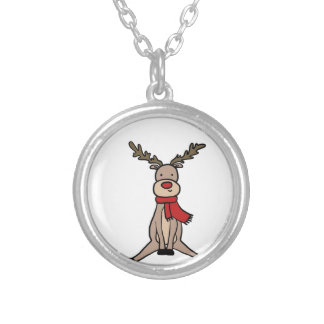 CUTE REINDEER, Rudolph Silver Plated Necklace