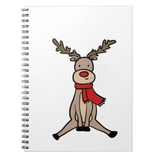 CUTE REINDEER, Rudolph Spiral Notebook