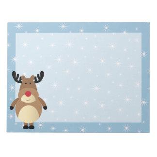 Cute Reindeer Winter Holiday Notepad