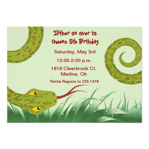 cute reptile birthday party invitation - Zazzle.com.au