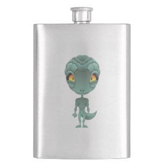 Cute Reptilian Alien Hip Flask