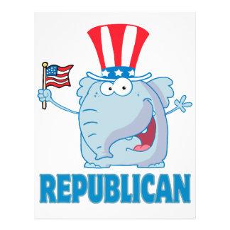 cute republican elephant political cartoon personalized flyer