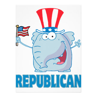 cute republican elephant political cartoon personalized invitations
