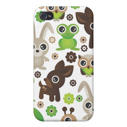 Cute retro animal pattern kids iphone case iPhone 4/4S cover