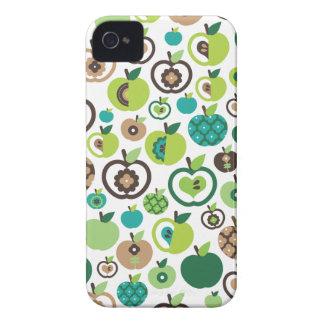 Cute retro apple flower pattern design iPhone 4 Case-Mate case