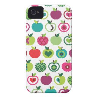Cute retro apple flower pattern design iPhone 4 cases