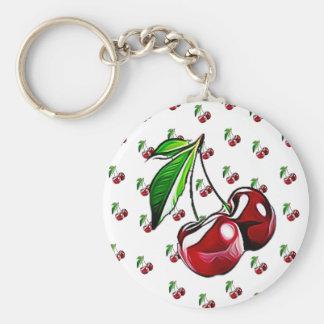 Cute Retro Cherries Key Chain