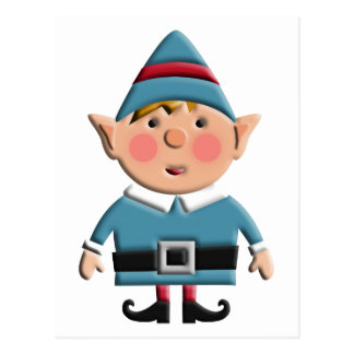 Cute Retro Christmas Elf Postcard