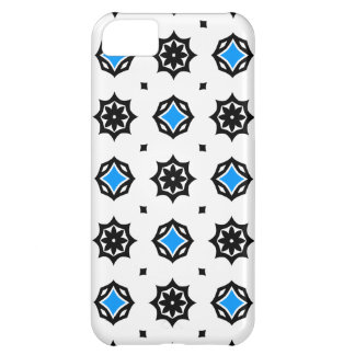 Cute retro diamonds and hearts pattern cover for iPhone 5C