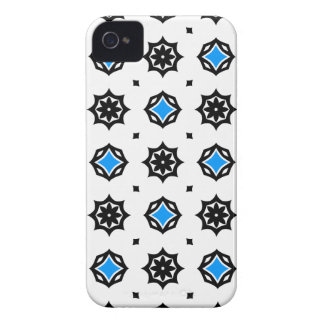 Cute retro diamonds and hearts pattern iPhone 4 cases
