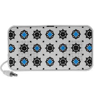 Cute retro diamonds and hearts pattern laptop speaker