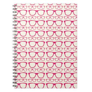 Cute Retro Eyeglass Hipster Notebook