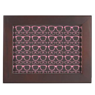 Cute Retro Eyeglass Hipster Keepsake Box