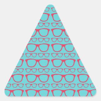 Cute Retro Eyeglass Hipster Triangle Sticker