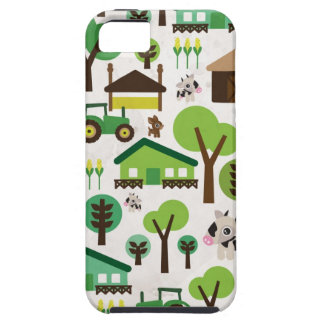 Cute retro farm animal kids pattern iphone 5 case