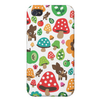 Cute retro flowers animal pattern kids iphone case iPhone 4 cases