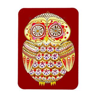 Cute Retro Owl Art Premium Magnet
