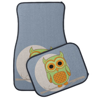 Cute Retro Owl Car Mat