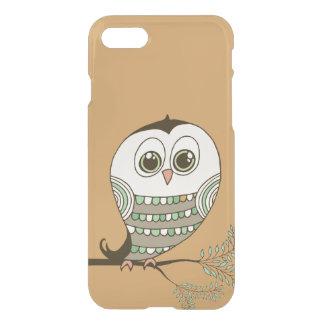 Cute Retro Owl on Branch iPhone 7 Case