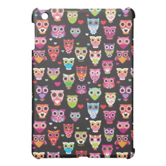 Cute retro owl pattern illustrated ipad mini case