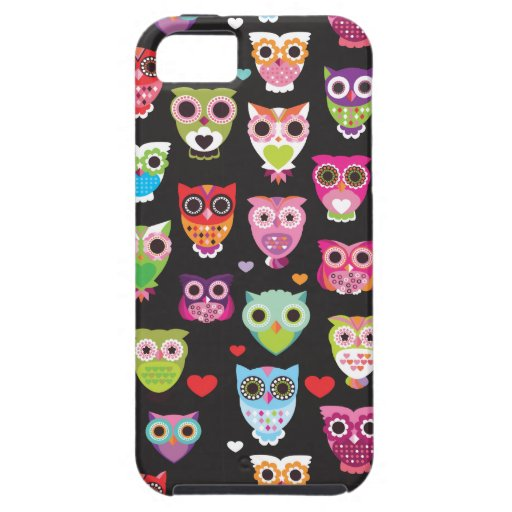 Cute retro owl pattern illustrated iphone 5 case