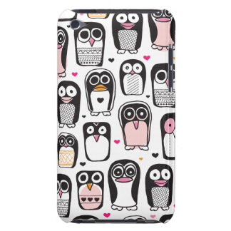 Cute retro Penguin kids pattern ipod case Barely There iPod Case