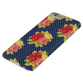 Cute Retro Polka Dots & Flowers Phone Case