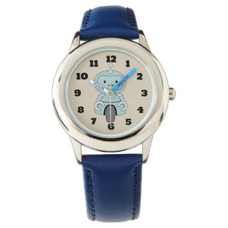 Cute Retro Robot Illustration Wrist Watch