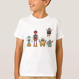 Cute Retro Robots Kids T-Shirt