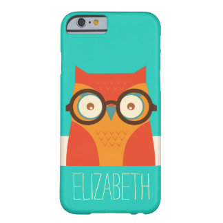 Cute Retro Vintage Owl Monogram iPhone 6 Case