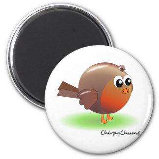 Cute Robin 6 Cm Round Magnet