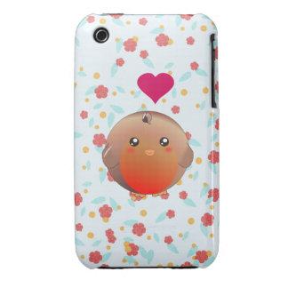 Cute Robin Bird iPhone 3 Covers