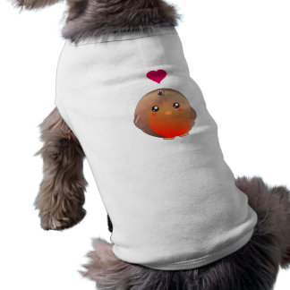 Cute Robin Bird Sleeveless Dog Shirt