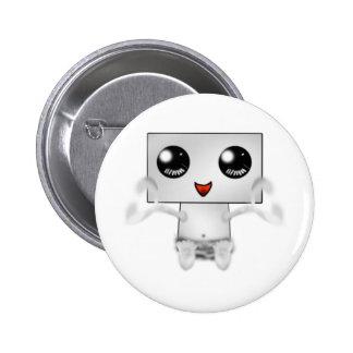 Cute Robot 6 Cm Round Badge