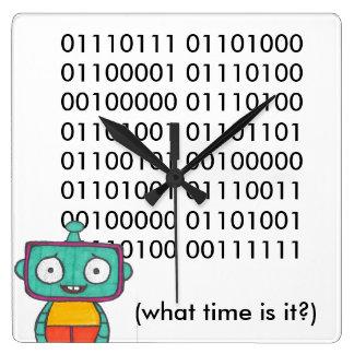 Cute Robot Clock - Binary
