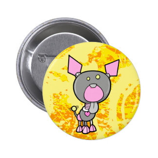 Cute Robot Cyborg Puppy Dog Button