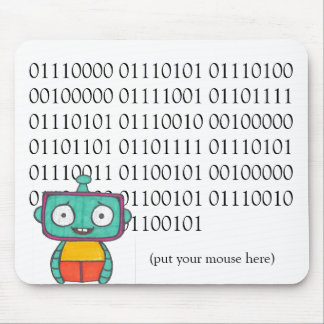 Cute Robot Mouse Pad